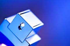 Blue fashion parfume bottle Royalty Free Stock Image