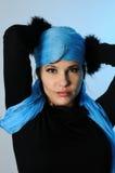 Blue fashion portrait Stock Images