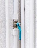 Blue faucet Stock Photo