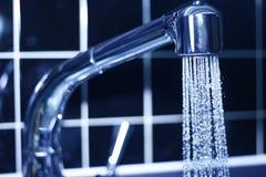 Blue faucet Royalty Free Stock Photos