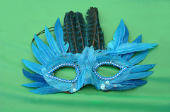 Blue Feather Mask Royalty Free Stock Photo