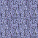 Blue feathers pattern Royalty Free Stock Images