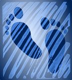 Blue feet - reflection, abstract image Royalty Free Stock Photos