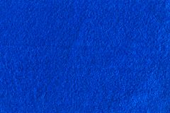 Blue felt texture for background. Stock Images