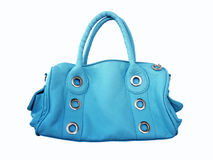 Blue female bag Stock Photography