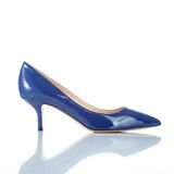 Blue female high heel shoe Royalty Free Stock Photo