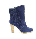 Blue female shammy boot Stock Image