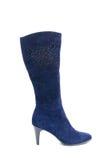Blue female shammy boot Stock Image
