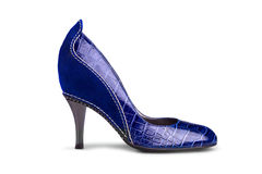 Blue female shoe-1 Stock Image