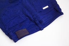 Blue female trousers closeup detail Stock Photos