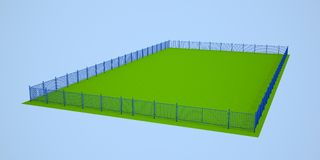 Blue fence Stock Image