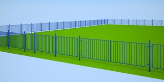 Blue fence Royalty Free Stock Images