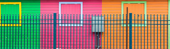 Blue Fence by Colorful Walls Stock Image