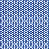 Blue Fence  Stars Triangle Geometric Pattern Fabric Background Royalty Free Stock Photography
