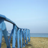 Blue fence Stock Photography