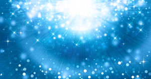 Blue festive background with rays and stars. Beautiful blue festive background with rays and stars Royalty Free Stock Images