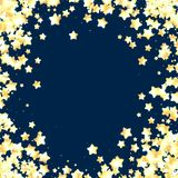Blue festive background with stars. Royalty Free Stock Photos