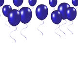 Blue festive balloons background vector illustration on a white. Background Stock Photography