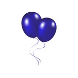 Blue festive balloons vector illustration on a white background Royalty Free Stock Images