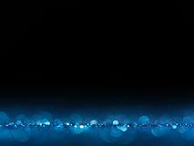 Blue Festive Christmas elegant abstract background with bokeh lights. Royalty Free Stock Photo
