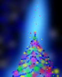 Blue Festive Christmas elegant abstract background colorful boke Stock Photos