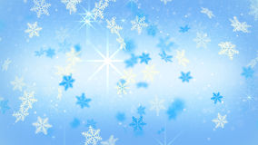 Blue festive snowflakes and stars. Computer generated christmas background Stock Images