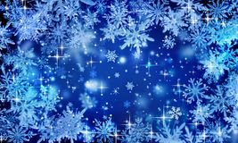 Free Blue Festive Winter Background, Christmas, Glitter, Snowflakes Falling, Icy Snowflakes, Snowfall, Holiday, New Year, Bright, Place Royalty Free Stock Photos - 166953298