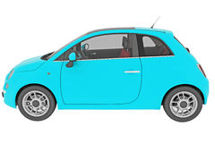 Blue Fiat 500 isolated Royalty Free Stock Photography