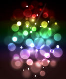 Blue fiber optic abstract background. Royalty Free Stock Images