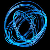 Blue fibers. Abstract blue optic fibers isolated on dark background Royalty Free Stock Photo