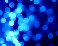 Blue fibre optics. Beautiful blue fibre optics on a soft dark background Stock Image