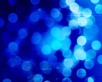 Blue fibre optics Stock Photo