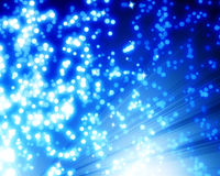 Blue fibre optics Stock Images