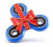 Blue fidget spinner gift Stock Image