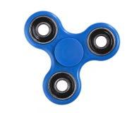 Blue Fidget Spinner on white background royalty free stock photos