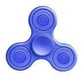 Blue fidget spinner on white background. Stock Image