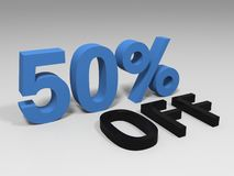 Blue fifty percent Stock Image