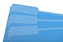Blue File Folder Border Image Stock Photos