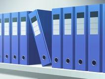 Blue Files Stock Image