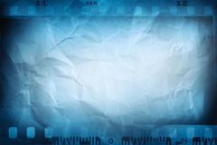 Blue film frames. Camera film negative frames background royalty free illustration