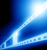 Blue film strip Stock Image