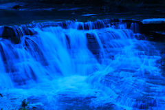 Filter Blue Waterfalls Royalty Free Stock Photos