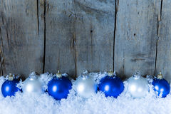 Blue filtered christmas background Royalty Free Stock Images