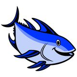 Blue fin Tuna Diving Royalty Free Stock Photography