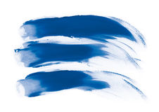 Blue fingerpaint Royalty Free Stock Photos