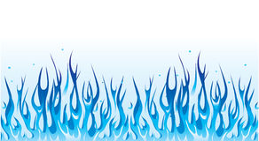 Blue fire border Royalty Free Stock Photography