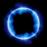 Blue fire circle Stock Photos