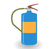 Blue Fire Extinguisher Isolated on White Background Stock Photography