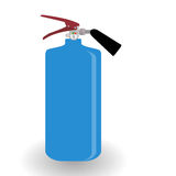 Blue Fire Extinguisher Isolated on White Background. With Place for Inscription. Vector Illustration. EPS10 Royalty Free Stock Photos