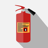 Blue Fire Extinguisher Isolated on White Background. With Place for Inscription. Vector Illustration. EPS10 Stock Image